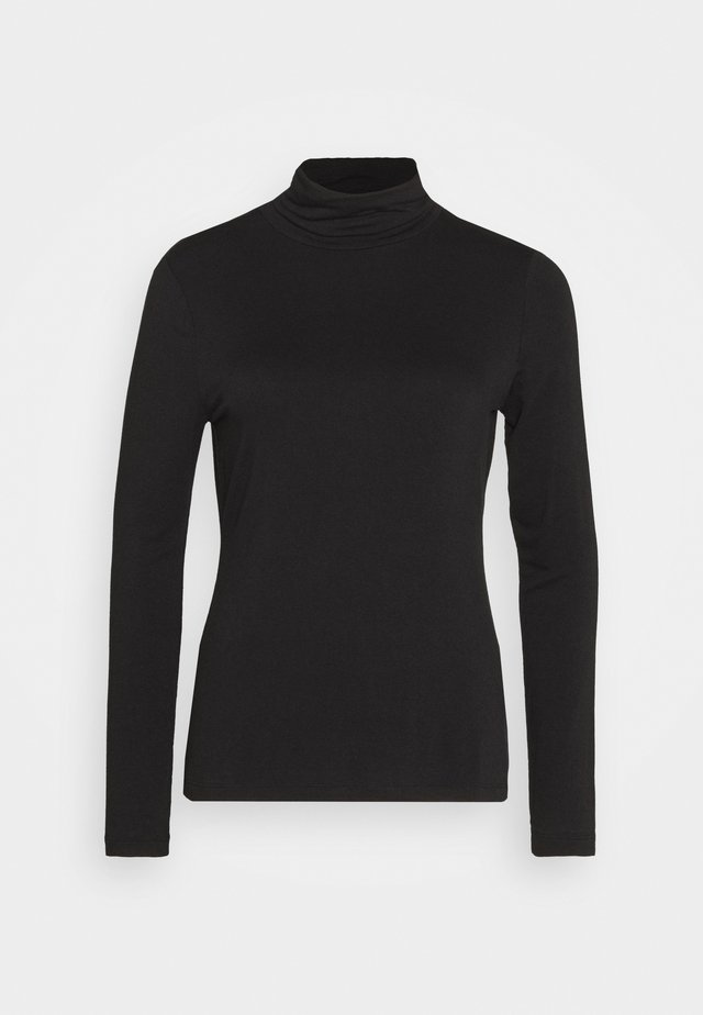 LAYERING NECK - Long sleeved top - true black
