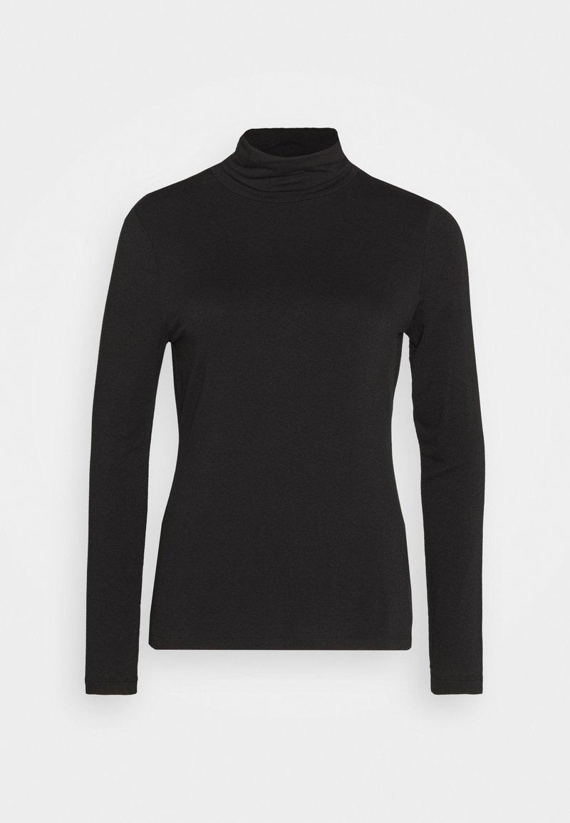 Banana Republic - LAYERING NECK - Long sleeved top - true black