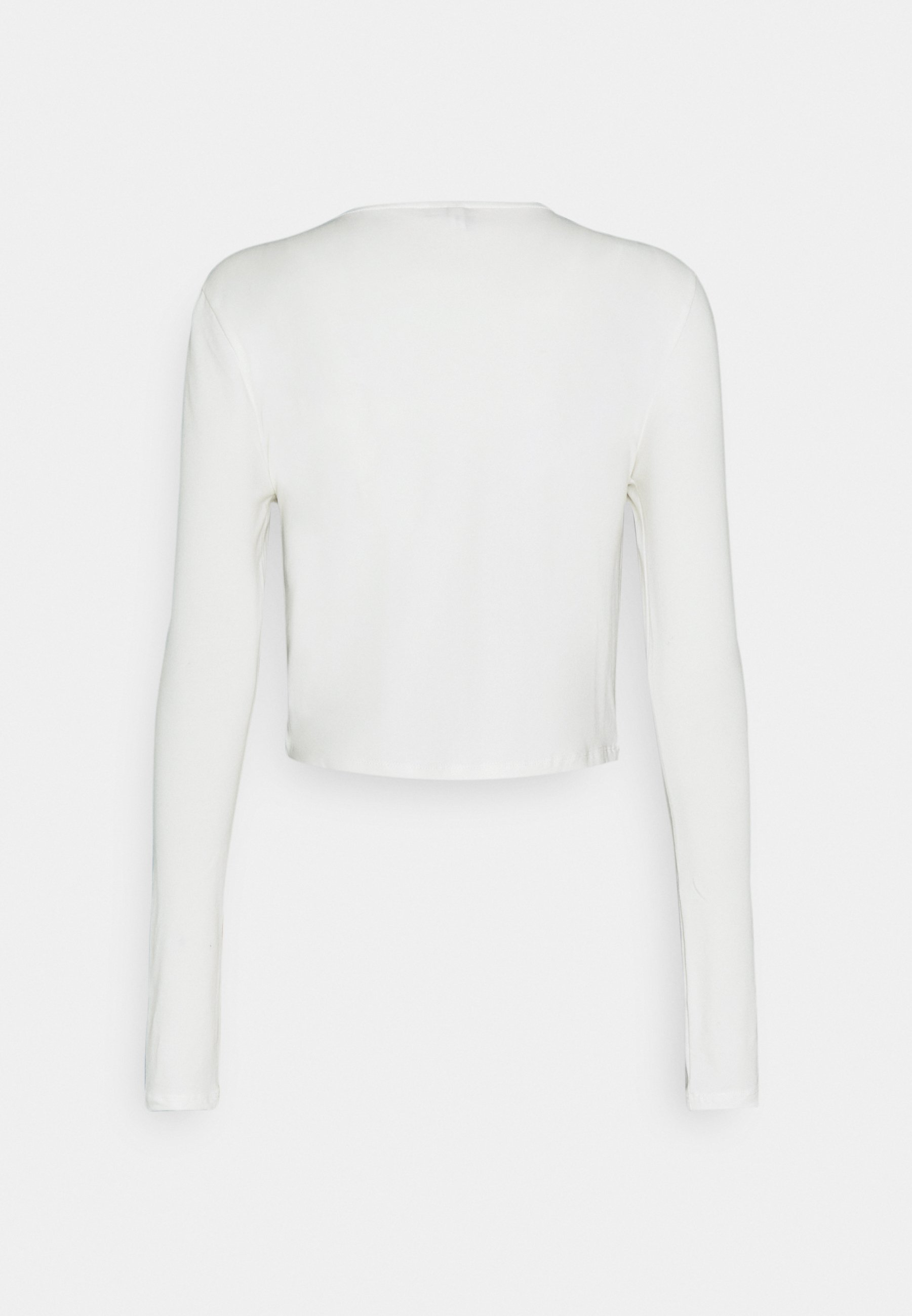 Nly By Nelly Perfect Cropped - Topper Langermet White/hvit