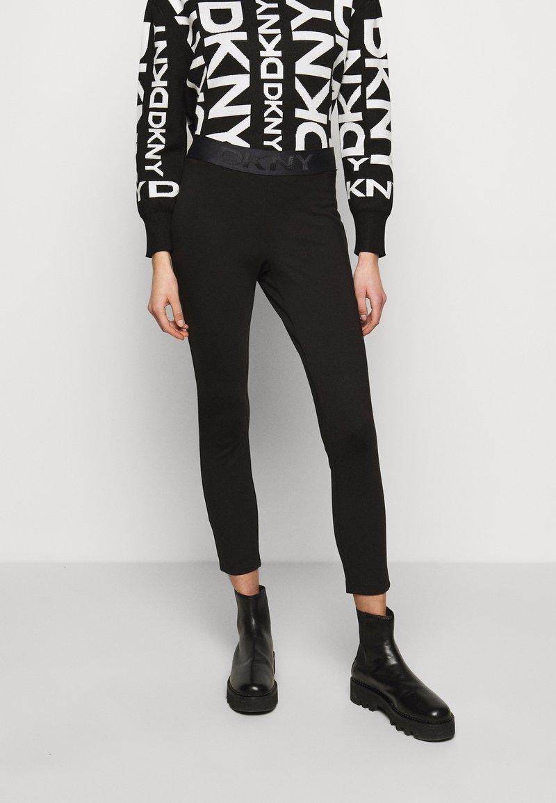 DKNY - FOUNDATION LOGO - Leggings - Trousers - black