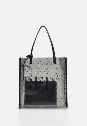 SHOPPER LOGO - Handbag - transparente/nero