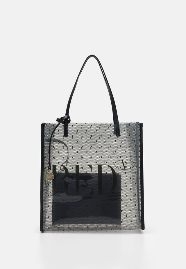SHOPPER LOGO - Handbag - transparente/nero