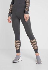 adidas by Stella McCartney - PARLEY SPORT WARP KNIT WORKOUT LEGGINGS - Punčochy - grey five - 0