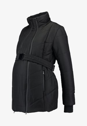 COAT DOUBLE ZIPPER PADDED - Talvitakki - black