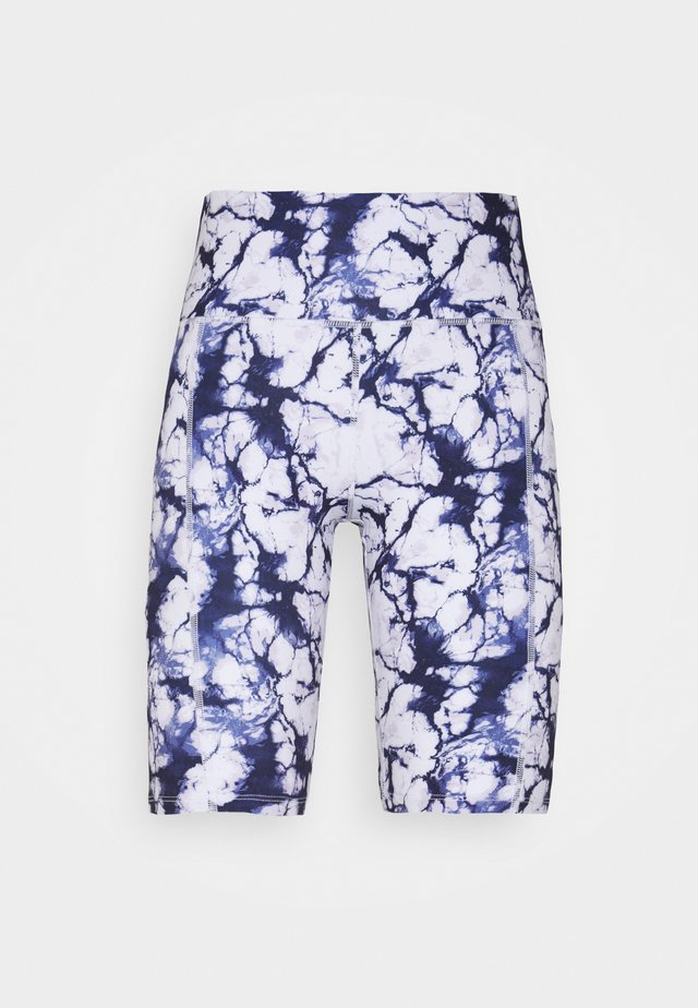 CYCLING SHORT MARBLE - Collant - snow white