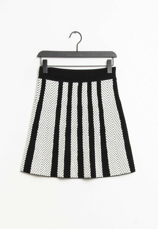 A-lijn rok - white/black