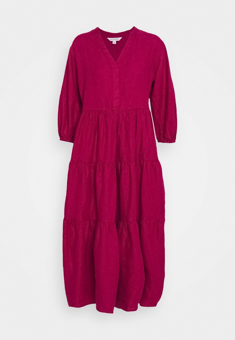 Marks & Spencer London - TIERED DRESS - Maxi dress - berry