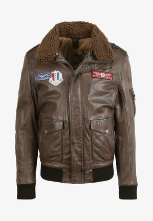 CRUISE - Leather jacket - dark brown