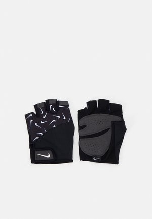 WOMENS GYM ELEMENTAL FITNESS GLOVES - Fingerless gloves - black/white
