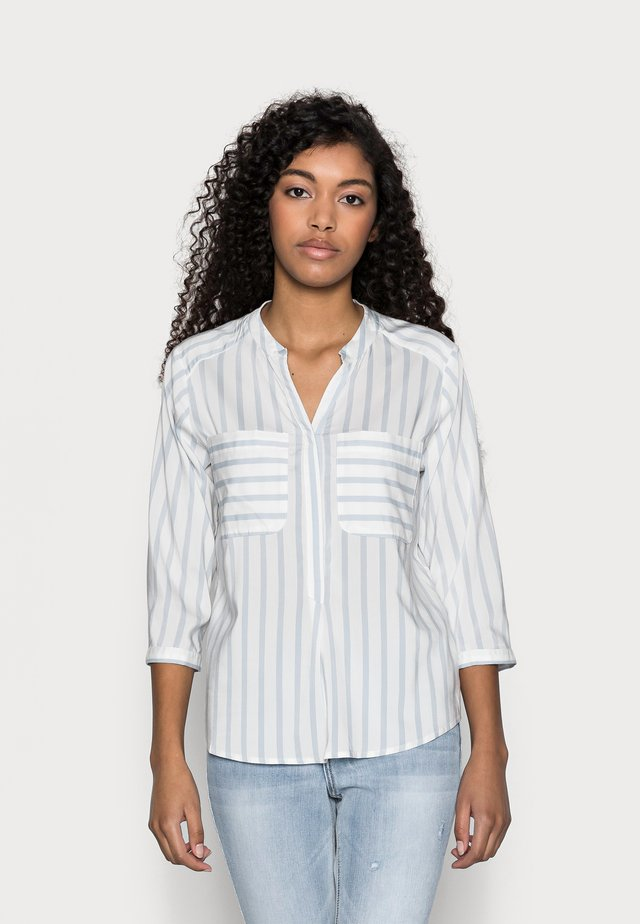 VMERIKA STRIPE 3/4 SHIRT - Blouse - snow white/blue fog