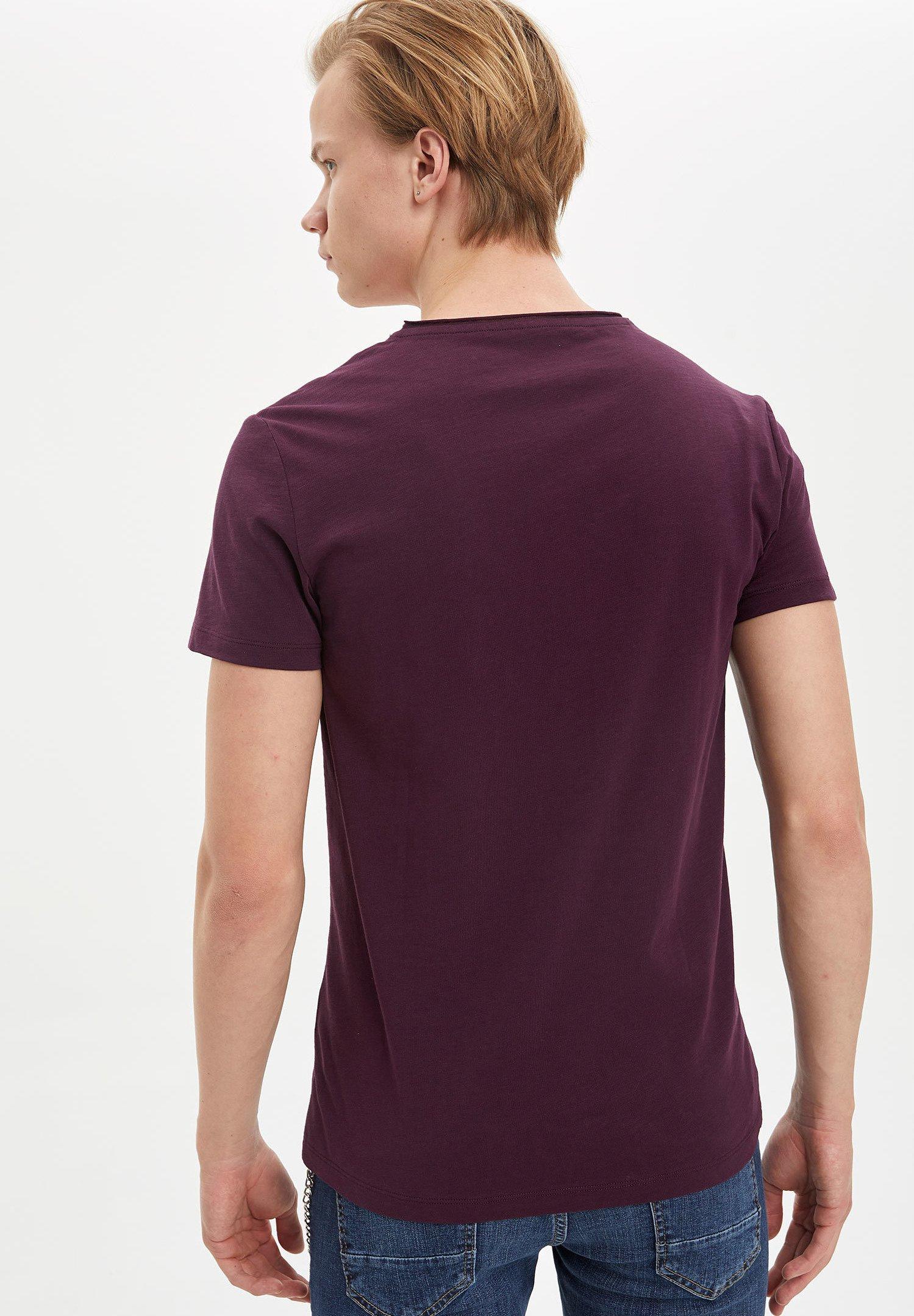 DeFacto Basic T-shirt - purple G9Y0m