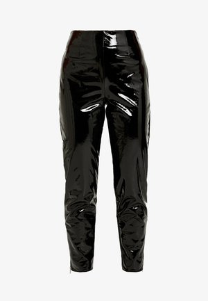 ZIP DETAIL TROUSERS - Trousers - black