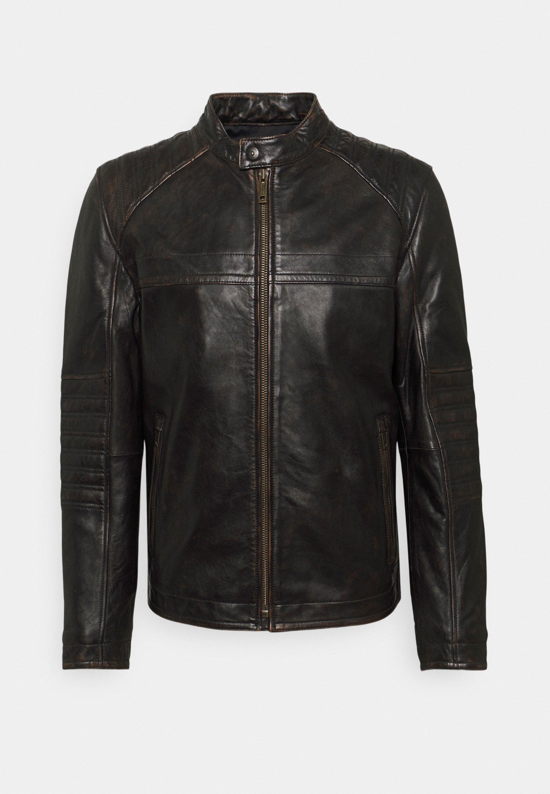 Men DRIVER - Leather jacket