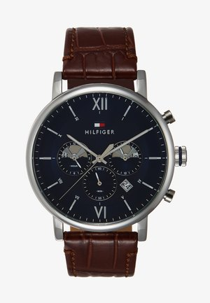 WATCH - Chronograph watch - brown/silver-coloured