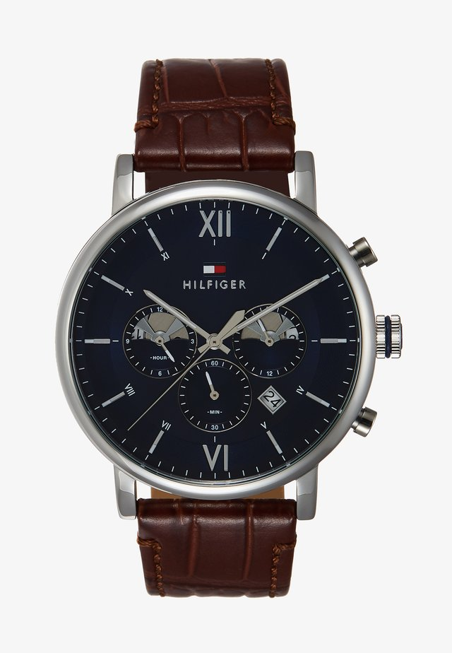 WATCH - Cronografo - brown/silver-coloured