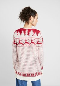 Vila - Cardigan - snow white/red - 2