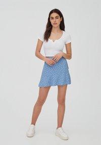 PULL&BEAR - A-line skirt - dark grey - 1