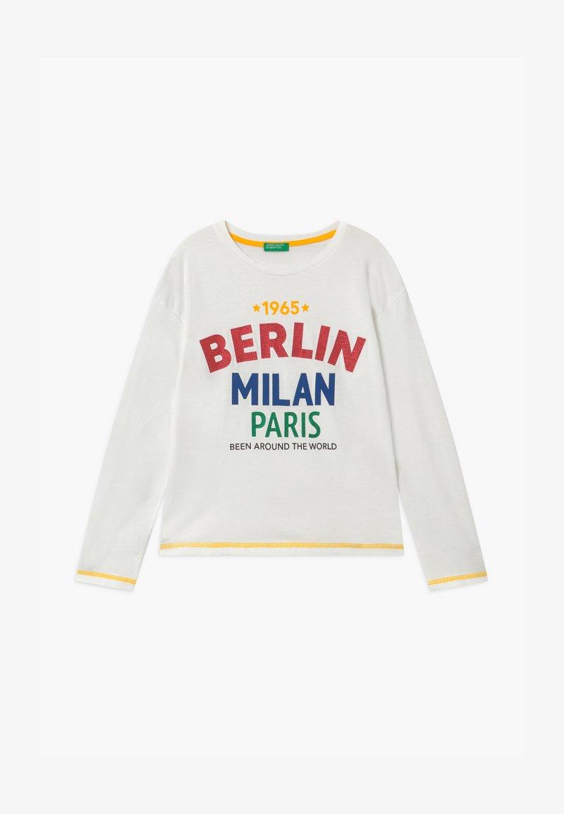 Benetton - EUROPE GIRL - Top sdlouhým rukávem - white/red