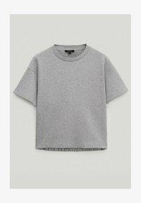 Massimo Dutti - Basic T-shirt - light grey - 3
