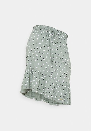 SKIRT - Spódnica trapezowa - grey moss