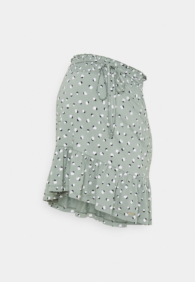 SKIRT - A-linjekjol - grey moss