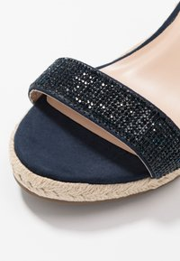 Dorothy Perkins Wide Fit - WIDE FIT RAA-RAA EMBELLISHED VAMP WEDGE - High heeled sandals - navy - 2