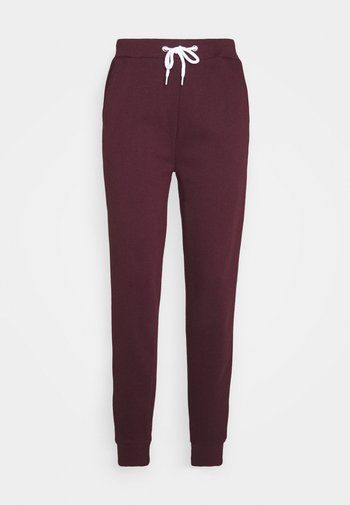 Regular fit jogger with contrast - Pantaloni sportivi - dark red
