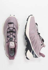 Salomon - SUPERCROSS - Zapatillas de trail running - quail/vanilla ice/india ink - 1