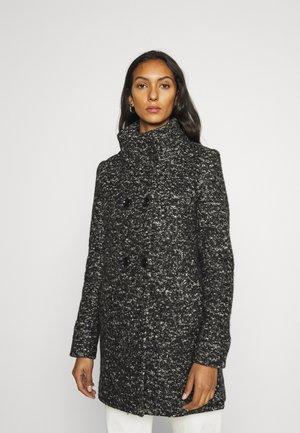 ONLNEWSOPHIA COAT - Krátký kabát - black melange/white