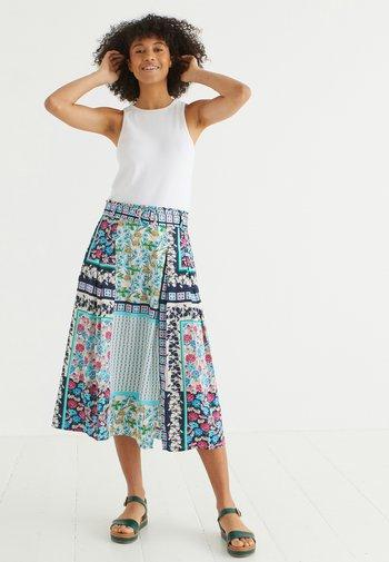 FLORAL & GEO  - A-line skirt - blue