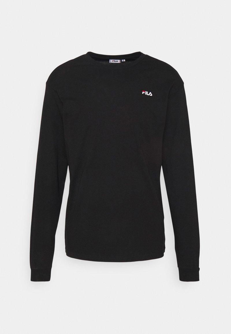 Fila - EDRIC LONG SLEEVE - Långärmad tröja - black