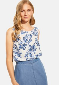 comma - Blouse - white two tone flowers - 3