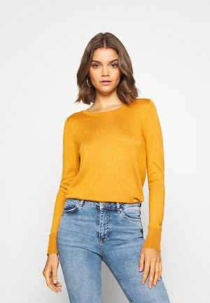 VMFELICITY LS O NECK BOW BLOUSE - Jumper - buckthorn brown