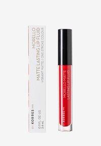 Korres - MORELLO MATTE LASTING LIP FLUID - Liquid lipstick - 53 red velvet - 1