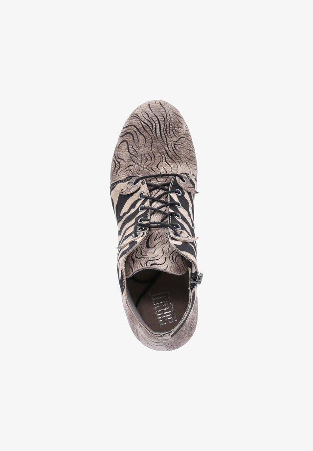 Ankle boots - beige-schwarz