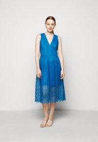 MICHAEL Michael Kors - MIDI DRESS - Cocktail dress / Party dress - bright cyan blue - 0