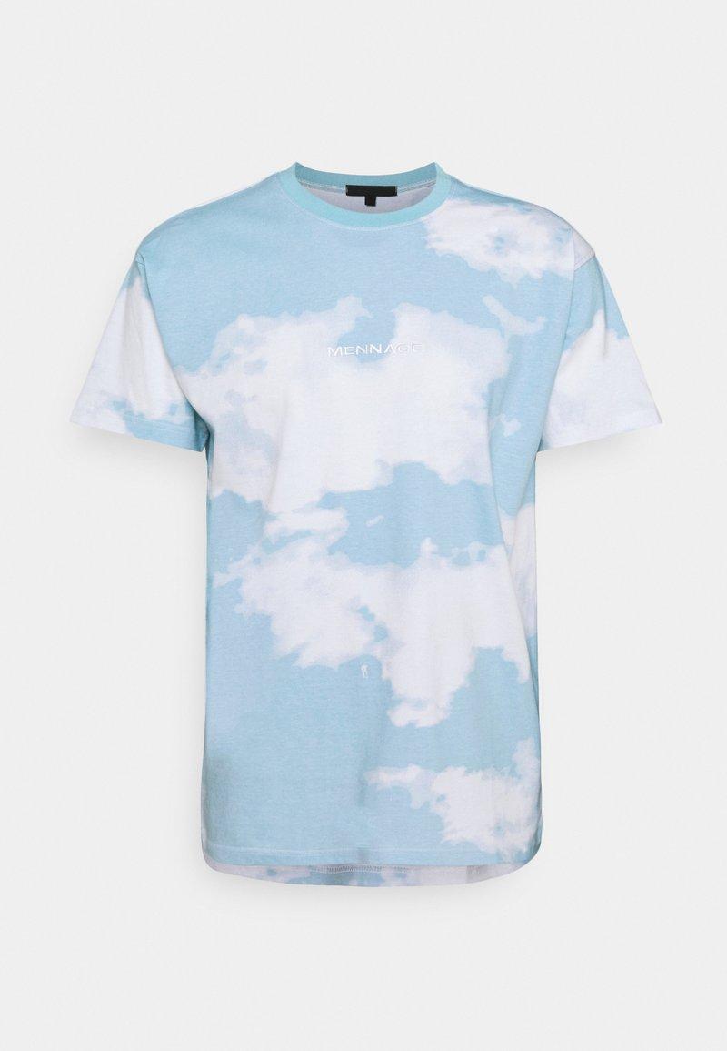 Mennace - SUNDAZE CLOUD PRINT UNISEX - T-shirt con stampa - blue