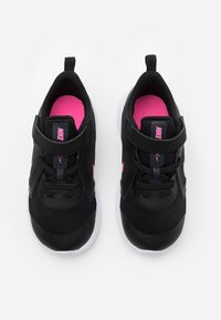 Nike Performance - DOWNSHIFTER 10 UNISEX - Neutral running shoes - black/pink glow/anthracite/white - 3