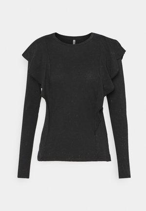 ONLLUCILLA LIFE FRILL - Langærmede T-shirts - black