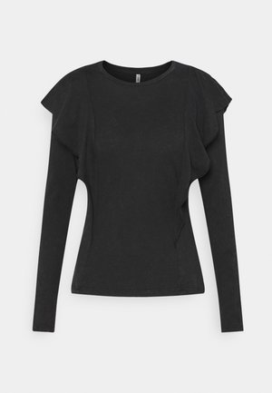 ONLLUCILLA LIFE FRILL - Long sleeved top - black