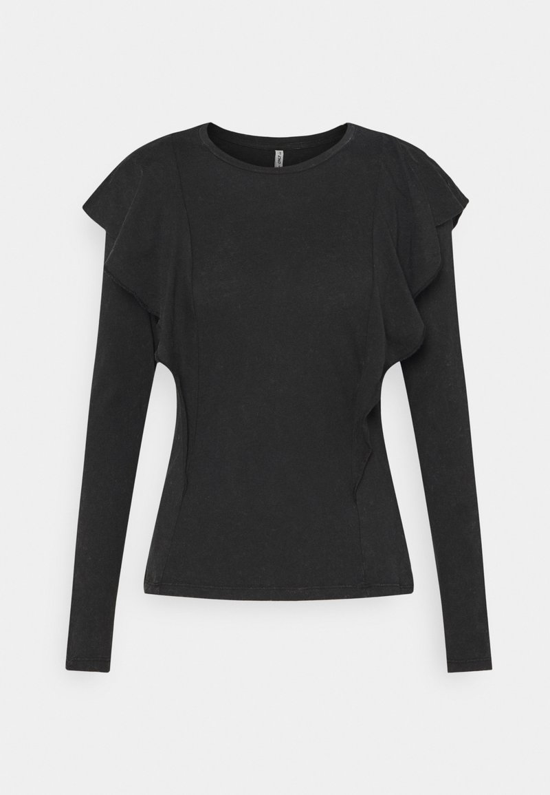 ONLY - ONLLUCILLA LIFE FRILL - Long sleeved top - black