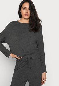 Anna Field - JERSEY WIDE LEG PJ SET  - Pyjama set - dark grey - 3