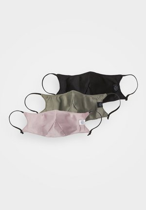 STEATH MASK 3 PACK UNISEX - Látková maska - olive/pink/black