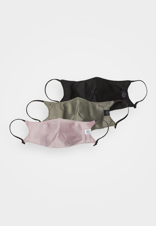 STEATH MASK 3 PACK UNISEX - Munnbind i tøy - olive/pink/black