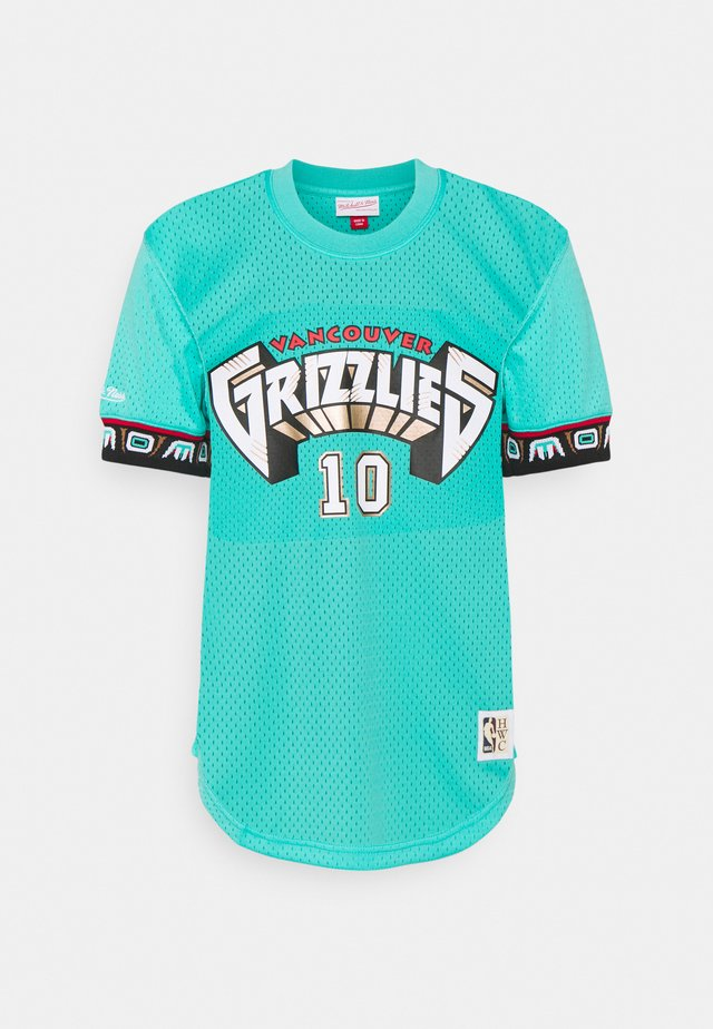 NBA VANCOUVER GRIZZLIESMIKE BIBBY NAME & NUMBER CREWNECK - T-shirt print - grizzlies teal