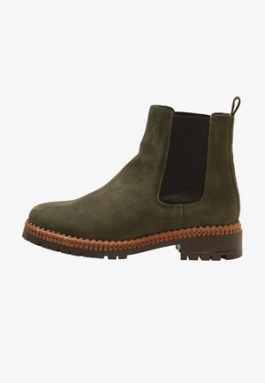 Boots à talons - khaki