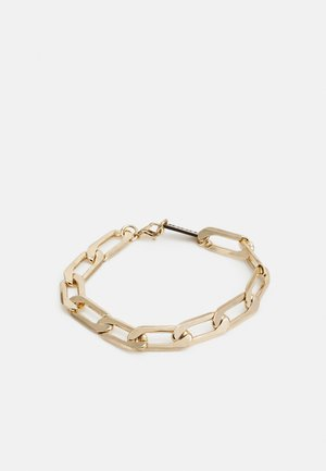 INDUSTRIAL CHAIN BRACELET WITH CLASP - Bracelet - gold-coloured