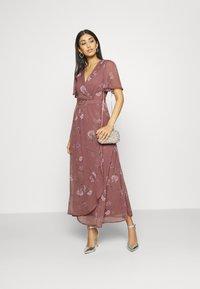 Vero Moda - VMWONDA WRAP DRESS  - Długa sukienka - rose brown - 1
