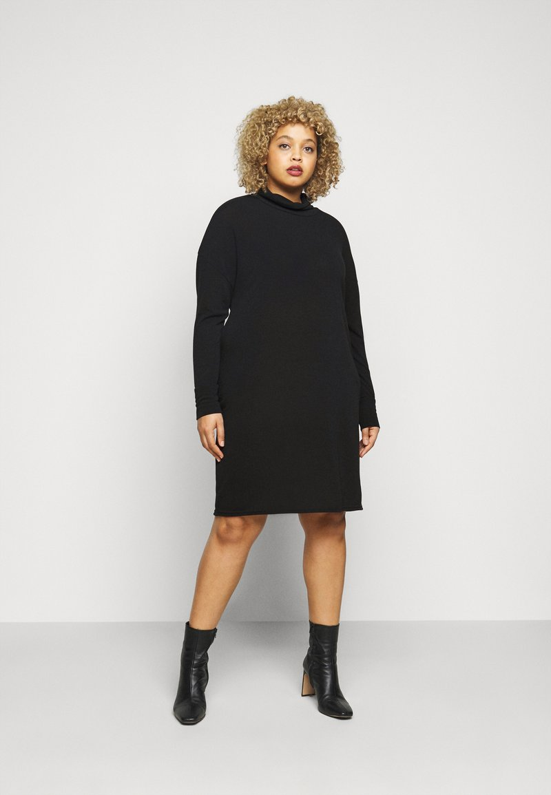 Evans - COWL DRESS - Pletené šaty - black