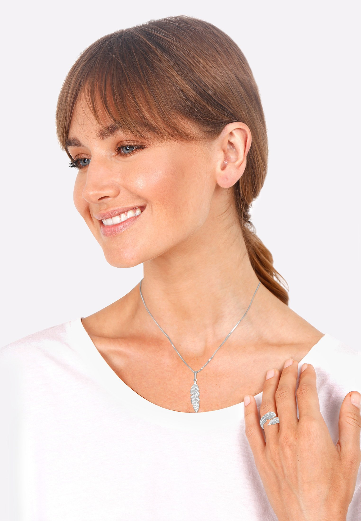 Donna JEWELRY SET FEATHER - Collana